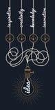 Circuito d'annata di idea della lampadina Royalty Illustrazione gratis