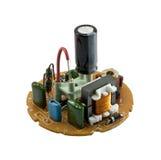 Circuito da lâmpada fluorescente compacta foto de stock royalty free