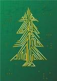 Circuito da árvore de Natal Imagens de Stock