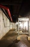 Circuito de agua del tubo en túneles Imagenes de archivo