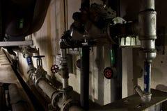 Circuito de agua del tubo en túneles Imagen de archivo