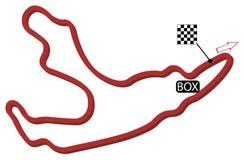 Circuito de Bélgica stock de ilustración