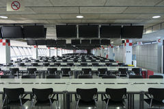 Circuito de Barcelona da sala de imprensa Imagem de Stock