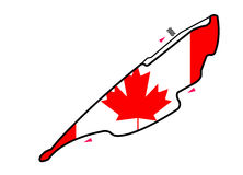 Circuito de Canadá: Fórmula 1 foto de archivo libre de regalías