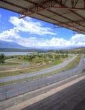 Circuito de carreras auto vacío Imágenes de archivo libres de regalías