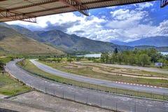 Circuito de carreras auto vacío Foto de archivo