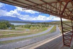 Circuito de carreras auto vacío Fotos de archivo