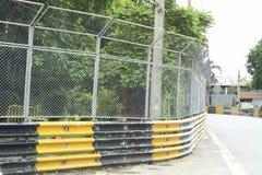 Circuito de carreras del motor en ciudad Imagen de archivo libre de regalías