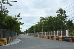 Circuito de carreras del motor en ciudad Imagen de archivo