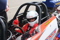 Circuito de carreras Inglaterra de Santapod Fotos de archivo libres de regalías