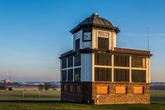 Circuito de carreras de Pontefract - compita con la taquilla de los directores, carrera de caballos, West Yorkshire, Reino Unido Foto de archivo libre de regalías