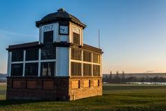 Circuito de carreras de Pontefract - compita con la taquilla de los directores, carrera de caballos, West Yorkshire, Reino Unido Fotografía de archivo libre de regalías