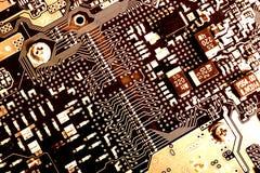 Circuito de cobre Imágenes de archivo libres de regalías