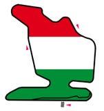 Circuito de Hungría: Fórmula 1 stock de ilustración