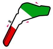 Circuito de Italia: Fórmula 1 ilustración del vector