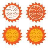 Circuito de la energía solar Imágenes de archivo libres de regalías