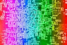 Circuito de la placa madre del ordenador Imagen de archivo