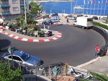 Circuito de Mónaco - curva del hotel de Loews Fotos de archivo
