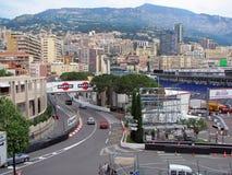 Circuito de Mónaco - Virage Anthony Noghes Fotografía de archivo libre de regalías