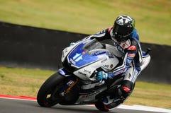 Circuito de MUGELLO - 13 de julho: Ben Spies Yamaha que compete na sessão de qualificação de MotoGP Prix grande de Itália, o 13 d Fotos de Stock
