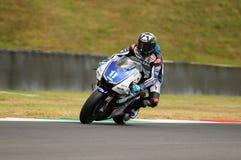 Circuito de MUGELLO - 13 de julho: Ben Spies Yamaha que compete na sessão de qualificação de MotoGP Prix grande de Itália, o 13 d Foto de Stock
