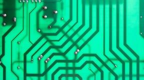 Circuito de ordenador verde Fotografía de archivo libre de regalías
