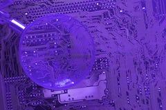 Circuito del mainboard del ordenador Imagen de archivo