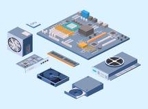 Circuito dell'unità di elaborazione di tecnologia del chip di computer e sistema di informazione della scheda madre del computer royalty illustrazione gratis