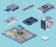 Circuito dell'unità di elaborazione di tecnologia del chip di computer e sistema di informazione della scheda madre del computer illustrazione vettoriale