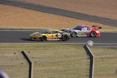 Circuito della strada della vettura da corsa di Le Mans immagine stock libera da diritti
