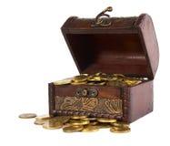 Circuito di collegamento con i soldi dell'oro Fotografia Stock