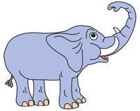 Circuito di collegamento sull'elefante Illustrazione di Stock