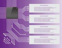 Circuito di elettronica Infographics Fotografia Stock Libera da Diritti