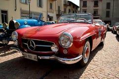 Circuito di Zingonia 2014 del automóvil descubierto de Mercedes 300 SL Imagen de archivo