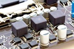 Circuito do filtro e estabilizadores de SMD do processador Imagens de Stock Royalty Free