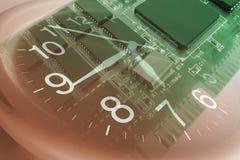 Circuito e dell'orologio fotografia stock