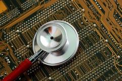 Circuito e dello stetoscopio Fotografie Stock