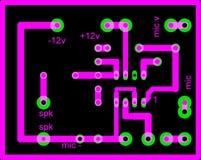 Circuito eléctrico Imágenes de archivo libres de regalías