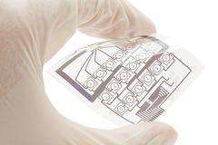 Circuito elétrico impresso flexível imagens de stock royalty free