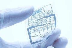 Circuito elétrico impresso flexível fotos de stock royalty free