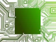Circuito electrónico adentro   ilustración del vector