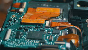 Circuito electrónico con los componentes de radio almacen de metraje de vídeo