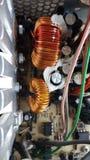 Circuito electrónico de la fuente de alimentación Foto de archivo