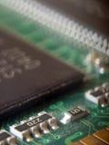 Circuito electrónico de la memoria RAM Imagen de archivo