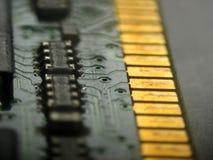 Circuito electrónico de la memoria RAM Fotos de archivo