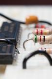Circuito electrónico de prueba Imagen de archivo libre de regalías