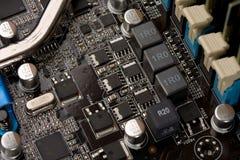 Circuito electrónico del ordenador Imágenes de archivo libres de regalías