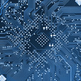 Circuito electrónico del ordenador Fotografía de archivo libre de regalías