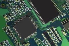Circuito electrónico dentro de un ordenador moderno Foto de archivo libre de regalías
