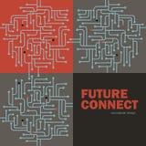 Circuito electrónico Spu Líneas diseño del circuito Concepto futuro libre illustration